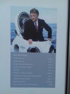 Hinweistafel zum Tauchboot auf dem Gelände der Firma Bruker